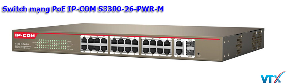 Switch mạng PoE IP-COM S3300-26-PWR-M