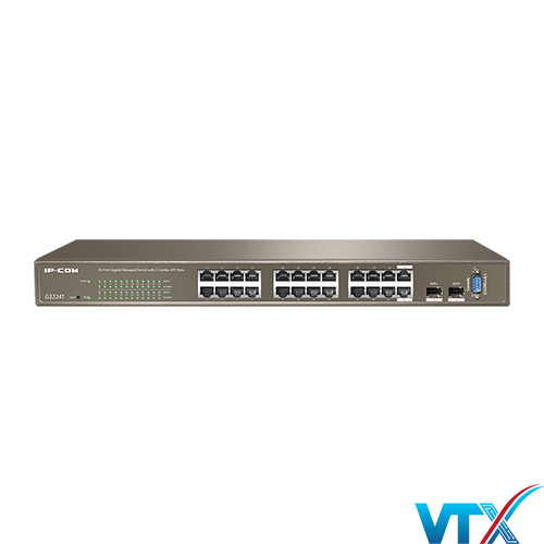 Switch mạng IP-COM G3224T 24 port + 2 SFP + 1 console