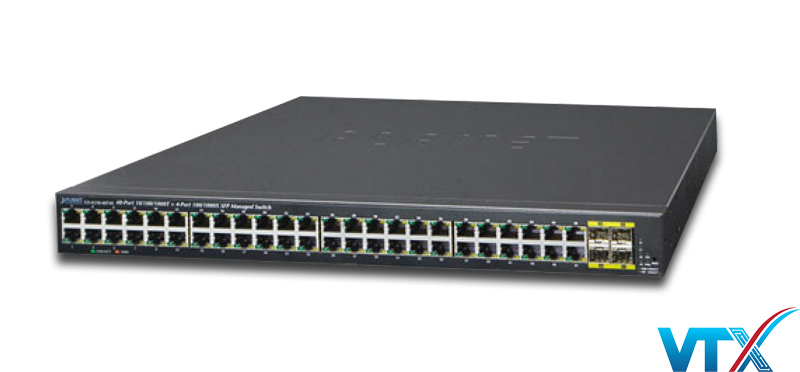 Switch mạng PLANET GS-4210-48T4S