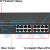 Switch chia mạng PLANET 16 port GS-4210-16T2S + 2 port 1001000BASE-X