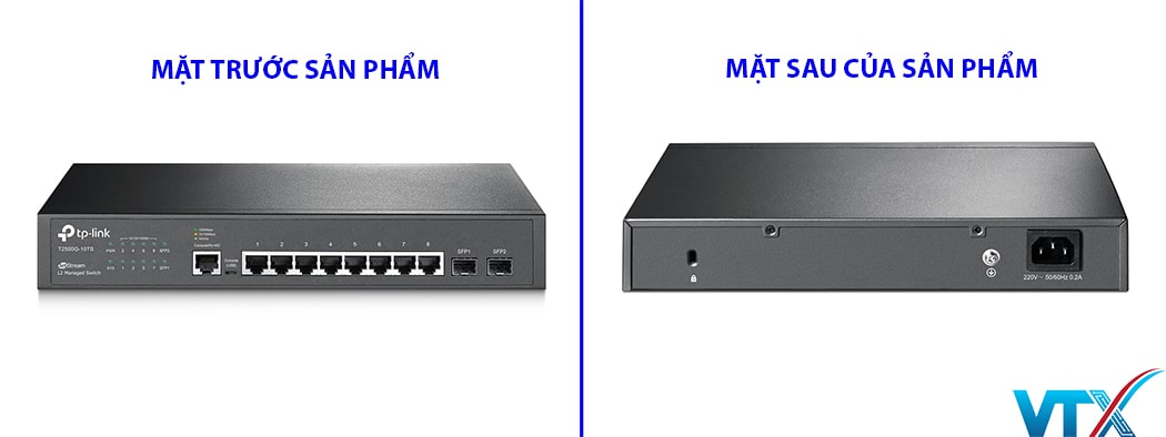 Switch quản lý JetStream 8-Port Gigabit + 2 SFP Slots TP Link | PN: TL-SG3210 (T2500G-10TS)