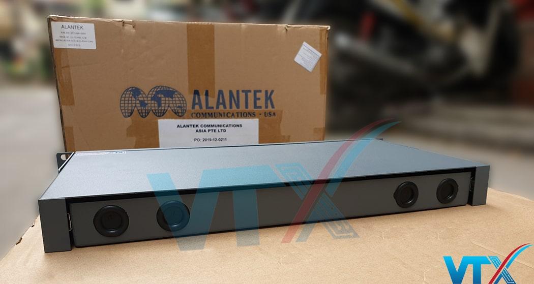 Hộp phối quang ODF Alantek 24 FO lắp rack khay trượt