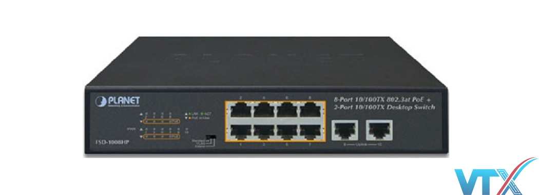 Switch chia mạng PLANET FSD-1008HP
