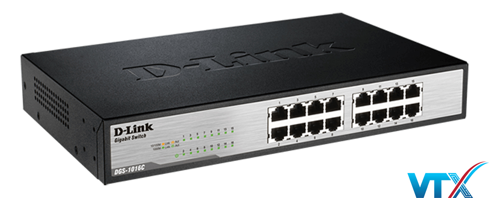 Switch chia mạng 16-Port 10/100/1000 Mbps