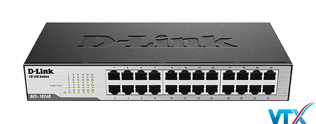 Switch chia mạng D-Link 24Port DES-1024D