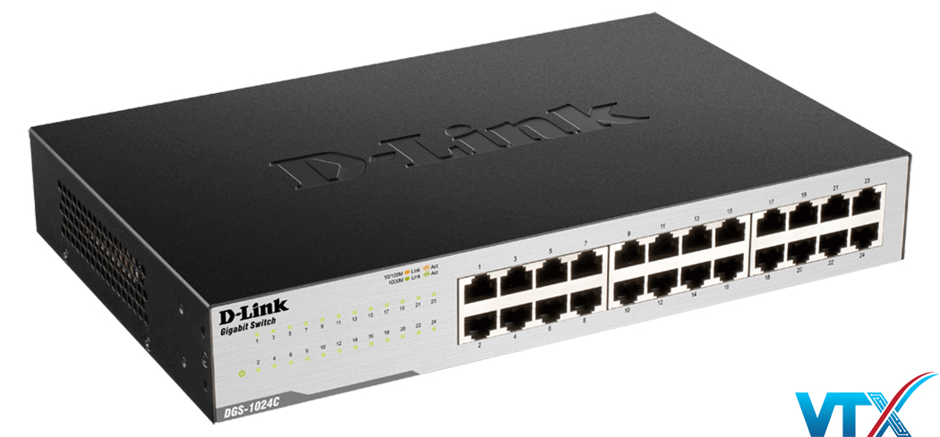 Switch chia mạng D-link 24port DGS-1024C